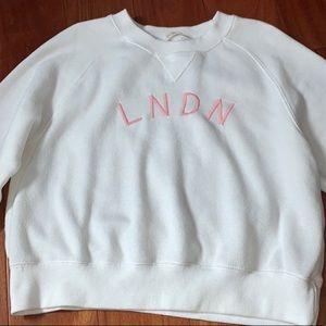 Brandy Melville white LNDN sweater